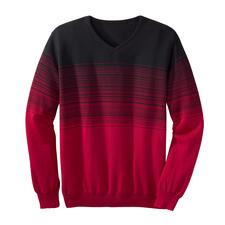 Gestreepte trui met kleurverloop - Met expressief kleurverloop: de bijzondere manier om modieuze strepen te dragen.