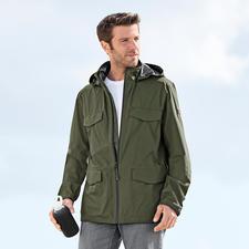 Aigle outdoorjas voor heren 'ultralicht' - Ultralichte outdoorjas. Met ventilerend, water- en winddicht 2,5-lagensysteem van Aigle, Frankrijk.