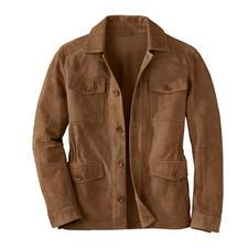 Karl Lagerfeld fieldjacket van geitensuèdeleer - Het beste leren jack voor de zomer is gemaakt van zijdeachtig geitensuèdeleer. Van Karl Lagerfeld.