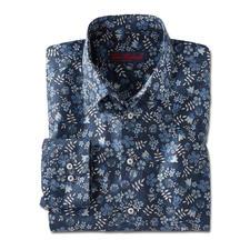 Liberty™ Tana-Lawn-overhemd, donkerblauw/wit/blauw/grijs - Gebloemd gentleman-overhemd: bij alle andere merken een trend, bij Liberty™ al meer dan 140 jaar een traditie.