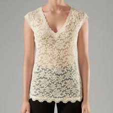 Rosemunde Copenhagen kanten shirt - Onderhoudsarm als een T-shirt, chic als een blouse. Van Rosemunde Copenhagen.