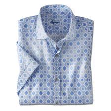 Ingram mousseline- overhemd met korte mouwen - Luchtig overhemd met korte mouwen, in een uniek mousselineweefsel. Van Ingram.