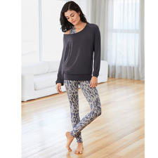 shirt, top leoprint of leggings