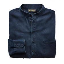 Hollington Nehru-jeansoverhemd - Kenmerkend: de staande kraag. Nieuw: de modieuze denim-look. Van Patrick Hollington.