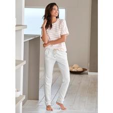 HFor gestreept shirt of sweatbroek - Heerlijk comfortabel. Trendy model waarmee u ook buiten gezien mag worden en dat aantrekkelijk geprijsd is.