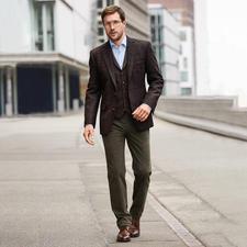 Carl Gross Harris Tweed-colbert of -gilet - Originele Harris Tweed van de Buiten-Hebriden – maar veel fijner en lichter dan normaal. Van Carl Gross.