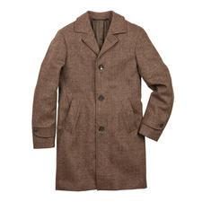 Jacob schaap mantel - Trendy model dat je maar zelden ziet: de Glencheck mantel van ongekleurde wol van het Jacob schaap.