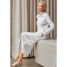 Hanro loungewear-jurk - Clean-chic. Slim-cut. Maxi-lengte. Trendy kleur. De meest modieuze interpretaties van de loungewear-jurk.