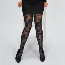 Oroblu Floral netpanty - Modieuze panty's hoog 2: bloemenpatroon + net. Made in Italy. Van Oroblu. Topkwaliteit voor een goede prijs.