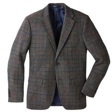 German Tweed®-colbert met glenchekdessin - Zeer stijlvol tweedcolbert, geweven in Duitsland. Klassieke glencheckruiten. Lichte, soepele, zachte stof.