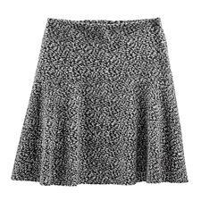 Zwierige rok van katoen-jersey - Tweed-look in nieuwe, lichte stijl – van zachte katoen-jersey. Perfect voor een modieuze, zwierige rokvorm.