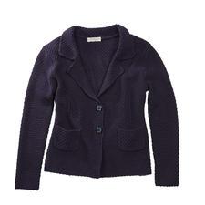 Carbery gebreide brickwork-blazer - Gebreide blazer met opvallend brickwork-structuurmotief. Van de Ierse producent Carbery.