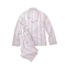 Novila pyjama met pastelkleurstrepen - De pyjama voor een eerste goede indruk in de morgen.