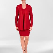 vest, shirt en rock, rood