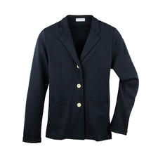 T-shirtblazer - Zo netjes als een blazer. Zo licht en luchtig als een T-shirt. 265 g lichte blazer van fijne katoen-jersey.