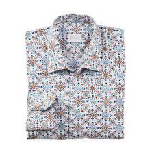 Dorani overhemd met tegelmotief - Modieus tegelmotief, maar dan subtiel en stijlvol: in zachte kleuren en met een rustig dessin. Van Dorani.