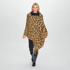 TWINSET leeuwensjaal - Trendy ontwerp in klassiek elegante kleuren en royale maat. Mooier dan de meeste: de leeuwensjaal van TWINSET.