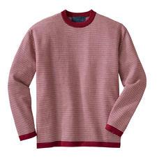Gestreepte trui van baby-alpaca - Deze gestreepte trui van pure baby-alpaca is het hele jaar door te dragen. Van Carbery/Ierland.