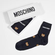 Moschino teddybeersokken, set van 2paar