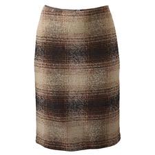 Geruite bouclérok - Klassieke geruite rok in een nieuwe look dankzij de boucléstructuur.