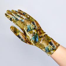 Goldy Klimt Fluweel, goudkleur/gedessineerd