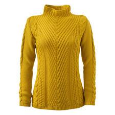 Peregrine trui met patronenmix - Zelden zie je een trui met zoveel interessante structuurpatronen. Made in England. Van Peregrine.