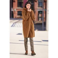 Betta Corradi omkeerbare jas van imitatiebont - Nauwelijks te onderscheiden van echt suède. De betaalbare designerjas van de specialist Betta Corradi.