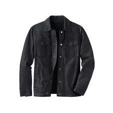 Karl Lagerfeld overhemdjasje van lamsnappa - Van zacht lamsleer zonder voering. 700 g licht. Van Karl Lagerfeld.