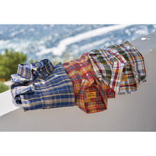 OMTC geruit Madras-overhemd - Het originele Madras-overhemd – traditioneel met de hand geweven in India. Van OMTC.