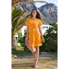 Pluto jurk van fijnfrotté - Elegante jurk van fijnfrotté voor strand, beauty-center, 's avonds op de bank etc.