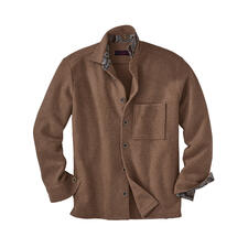 Alpaca-overshirt - Heel populair: klassiek workwear-overshirt. Nieuw geïnterpreteerd: veel luchtiger dankzij het zeldzame alpaca.