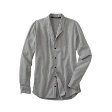 Hannes Roether overhemd met opstaande kraag - Warm door een beetje wol en variabel dankzij de kraag die u kunt omslaan. Van Hannes Roether.