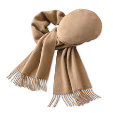 Muts of Sjaal van kameelhaar - Sjaal en muts van fijn kameelhaar.
