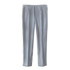 Seersucker-broek 'Blue Stripes' - De perfecte zomerbroek: luchtig en licht seersucker-weefsel dat elegant genoeg is voor naar kantoor.