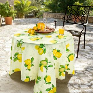 Provençaals tafellinnen Maar daarnaast vlekwerend, lichtecht en ongecompliceerd. Van slijtvast Panama-weefsel. Binnen en buiten.