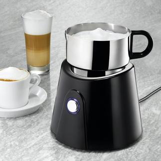 Inductie-melkopschuimer Verandert koude en warme melk in perfect schuim. Binnen seconden. Kan in de vaatwasser.