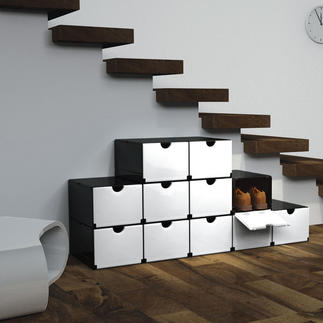 Geniale vouwboxen Met enkele handgrepen: schoenen- of voorraadkast, ladeblok, badkamerkast, ...