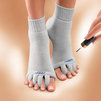Wellness-sokken 'Happy Feet' Ontspanning voor door pumps gekwelde voeten. VS-gepatenteerde ontspanningssokken voor uw tenen.