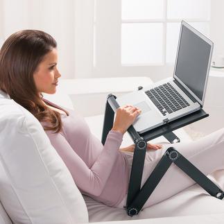 Vario-laptoptafel In bed, op de bank, onderweg, ... Met deze opklapbare notebooktafel kunt u ontspannen met de laptop werken.