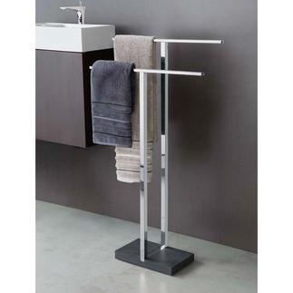Polystone wc-butler of Polystone handdoekenrek Bekroond design. Doordachte functionaliteit (en een meer dan redelijke prijs).