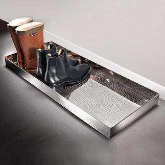 """Boot-tray """"Alligator"""" Elegante bak voor natte schoenen en vuile laarzen."""