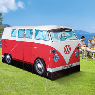 Kampeertent VW-minibus Krijgt bewonderende blikken op elke kampeerplaats: de legendarische T1 van 1965 – als originele minibustent.