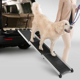Dogwalk hondenloopplank Comfortabele overbrugging van trappen en hoge laadranden. Ruimtebesparend inschuifbaar.