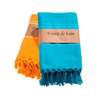 Fouta Dit is dé trend voor strand en sauna. Van zacht geweven katoen, achterkant uit lichte badstof bestaat.