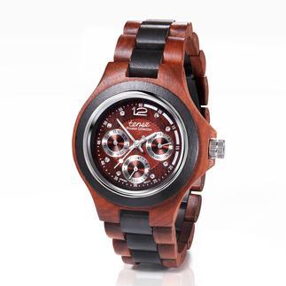 TENSE™ horloge met houten horlogebandje Stijlvol sandelhout in plaats van plastic of koud metaal. Handgemaakt.