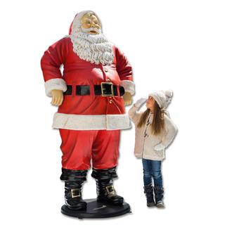 Kerstman De kerstman, als gigantische blikvanger – 1,88 meter groot en weerbestendig.