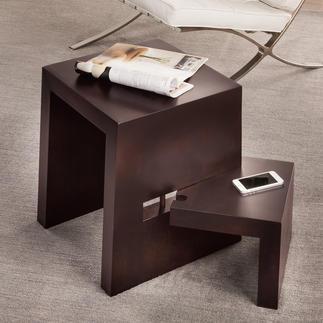 Designtrapkrukje De geniale kruk met 180° zwenkbare traptrede. Perfect als bijzettafel, stoel  en ladder.