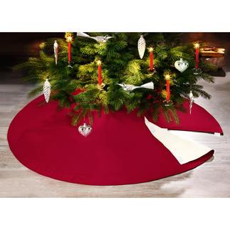 Moeilijk ontvlambare kerstboomdeken Veilige bescherming tegen kaarsenvlammen, was & boomwas. Decoratieve onderlegger voor uw kerstcadeaus.