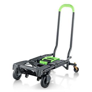 Inklapbare 2-in-1 transportkar Dubbel handig: transportkar en trolley in één.