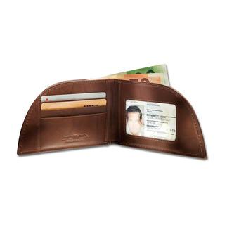 Rogue Wallet pocket-portemonnee Voor de voorzak van uw broek. Geniale vorm. Bizonleer. Met RFID-bescherming.